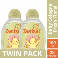 [TWIN PACK] Zwitsal Baby Cologne Classic Fresh Floral - 100ML