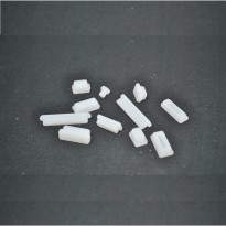 Silicone Notebook Dust Plug - White