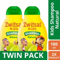 [TWIN PACK] Zwitsal Kids Shampoo Natural Green - 180ML