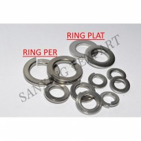 WASHER PLAT / RING PLATE STAINLESS STEEL M3 DIAMETER DALAM 3MM (1 pcs)