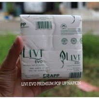 Tissue Livi Pop Up Evo - Tissue Kotak - Livi PREMIUM Facial - Tissue Cabut