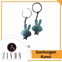 Gantungan Kunci Rabbit Couples Metal Kelinci Couple KeyChain XXH8