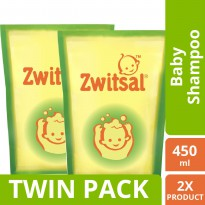 [TWIN PACK] Zwitsal Baby Shampoo Natural Avks Refill - Pouch - 450ML