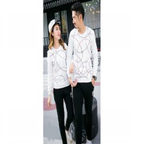 Baju Hoodie Couple Sweater Kaos Pasangan Kopel Kapel Kembar Murah LP Big Round