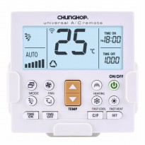 CHUNGHOP LCD Universal AC Remote Controller - K-650E - White