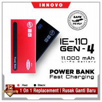 (pop up) PowerBank Quick Charge 11000mAh INNOVO Fast Charging GEN.4 IE-110