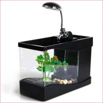 USB Desktop Aquarium Mini Fish Tank with Running Water - LS0404