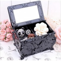 [Kirim Sore Ini] Anna sui jewelery square 2 layer perhiasan look alike kosmetik storage