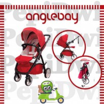[Limited Offer] stroller cocolatte anglebay angelbay merah red