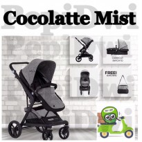 [Star Product] stroller cocolatte mist grey + foot cover + sling bag