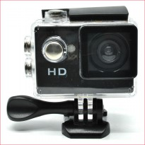 #Camcorder & Kamera Video Action Camera A7 30M Waterproof 720P + LCD Screen + Aksesoris