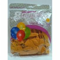 Balon Ultah Metalik Warna ORANGE (Pak Isi 50 Pcs)