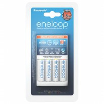 1900mah Batere Baterai Batre Cas Panasonic Smart & Quick Charger + 4pcs Eneloop Battery AA 1900 mAh Best Seller
