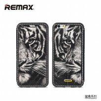 Remax Beast Series Flip Cover Case for iPhone 6s Plus - Black White