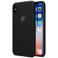 Nillkin Super Frosted Shield Hard Case with Logo Cutout for iPhone X - Black