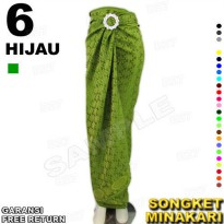 Rok LILIT Kutubaru Batik Songket MINAKARI B112-6 include Ring Belt