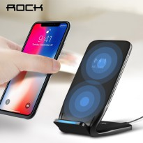 Rock Qi Wireless Charger Docking Stand Dual Coil - W3 - Black
