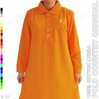 POLO COUNTRY Original C16-20 Kaos Kerah Wanita Cotton Lycra Orange