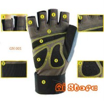 (Recommended) [Size XL] Sarung Tangan Fitness Nike / Gym Glove Nike GN 001