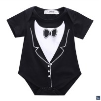 Gentleman Black Romper