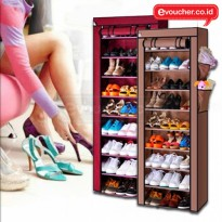10 Layers Shoe Wardobe Rack With Cover /Rak Sepatu 10 Tingkat Multifungsi/Shoe Rack With Dust Cover
