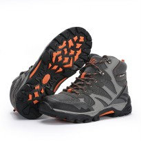 Sepatu Gunung Snta 478 Grey Orange Trekking/Hiking/Adventure/Outdoor