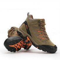 Sepatu Gunung Snta 475 Beige Brown Adventure Hiking/Trekking/Outdoor