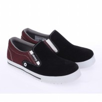 Best Seller! Catenzo Junior Sepatu Anak Slip-on CNYx008 Full Black