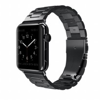 Hoco 3 Pointer Stainless Steel Band for Apple Watch 42mm Series 1/2/3 - Black