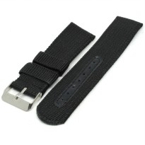 Strap Jam Tangan Model Military Army Nylon 22mm - 2750mxgq - Black