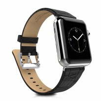 Hoco Bamboo Texture Leather Band for Apple Watch 42mm Series 1/2/3 - Black