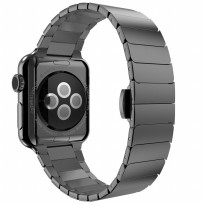Hoco Link Style Stainless Steel Band for Apple Watch 42mm Series 1/2/3 - Black