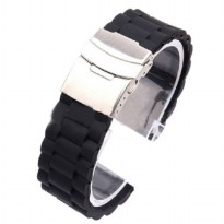 Strap Jam Tangan Butterfly 22mm Model 1 - Black