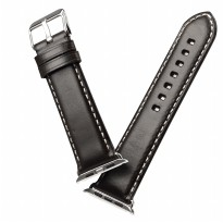 Tali Jam Tangan Leather Watchband for Apple Watch Series 1/2/3 42mm - Black