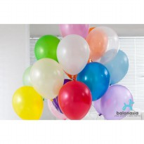 Balon Latex Metalik Mix 30 pcs (9 warna Random)