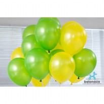 Balon Latex Metalik Mix 30 pcs (hijau muda, kuning)
