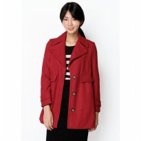 BIG SPENDER FELT COAT IN RED From A for Arcade