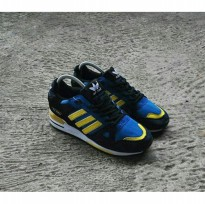 Sepatu Casual Sneakers Adidas ZX 750 Navy Yellow