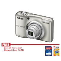 NIKON COOLPIX A10 - SILVER - FREE ACCESSORIES