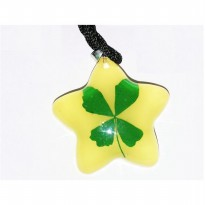 Kalung Clover Asli Glow In the Dark