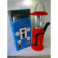 Solar powered Wind up powered LED Camping Lantern