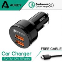 Aukey Quick Cahrge 3.0 Car Charge with Dual Port Model CC-T8