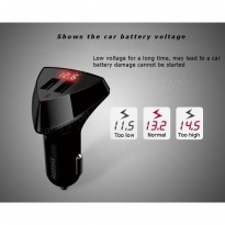 REMAX Aliens Voltage Display 2 USB Car Charger / Aksesoris Mobil