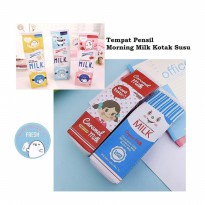 TP0038 Tempat Pensil Morning Milk Kotak Susu