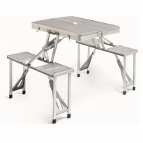 Meja Piknik Lipat Atria Hobbit Portable Picnic Table Silver