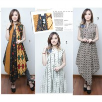 SB Collection Dress Maxi Sanita Longdress Panjang Kaftan Batik Wanita
