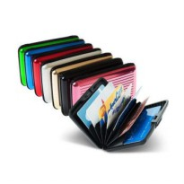 Dompet Kartu Kredit Aluma Wallet / Card Holder Organizer Card Guard / Card Caddy - Dompet Kartu Nama