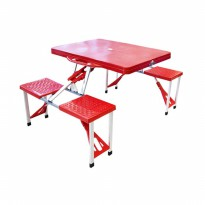 Meja Piknik Lipat Atria Hobbit Portable Picnic Table Merah