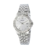 Seiko Ladies SUR741K1 Quartz Crystal On Bezel | Jam Wanita SUR741