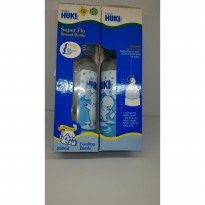 Botol susu Huki Super flo round bottle with orthodontic nipple 250ml